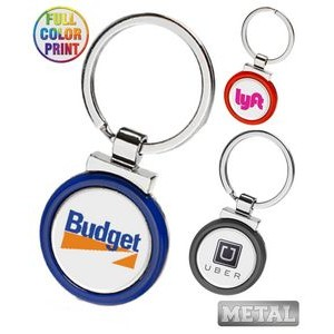 Metal Color Keychain-Full Color Dome
