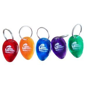 Oval Lottery Scraper Key Chain