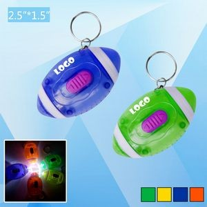 Football LED Flashlight Keychain