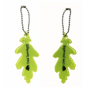 Safety Reflector Leaf Shape Keychain