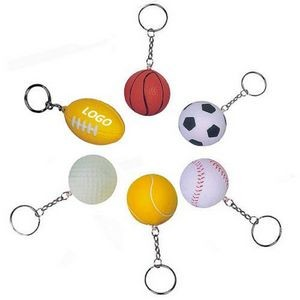 40mm Soft Mini Ball Keychain